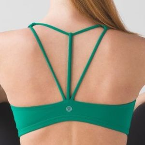 LULULEMON free to be trinity bra jungle green 8